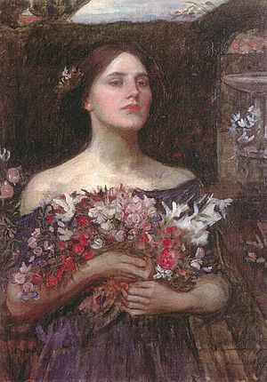 Gather Ye Rosebuds or Ophelia (a study) circa 1908