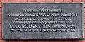 Gedenktafel Bunsenstr 1 (Mitte) Walther Nernst Max Bodenstein.jpg