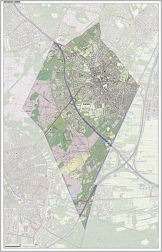 Laren, North Holland - Dutch Topographic map of Laren, June 2015
