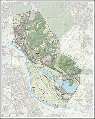 Mook en Middelaar - Dutch Topographic map of Mook en Middelaar, June 2015
