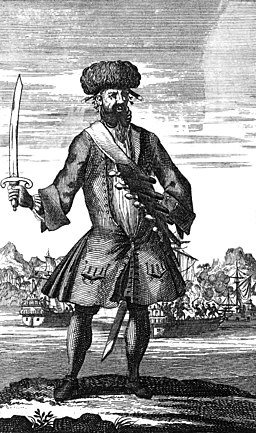 General History of the Pyrates - Blackbeard the Pirate (1724 bw)