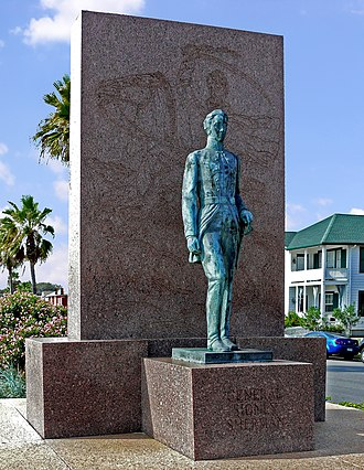 Sidney Sherman - Memorial to General Sidney Sherman on one of the main boulevards in Galveston