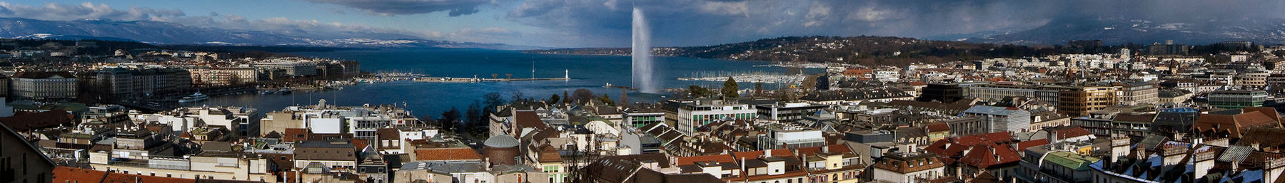 Geneva panorama with the Jet d'eau