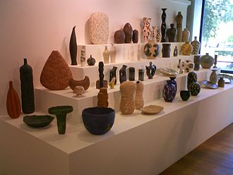 Geoffrey Eastop - Pots by Geoffrey Eastop, part of an exhibition of his work at the River and Rowing Museum in 2005.