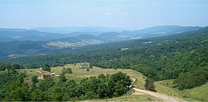 Pendleton County, West Virginia - Germany Valley lies west of North Fork Mountain.