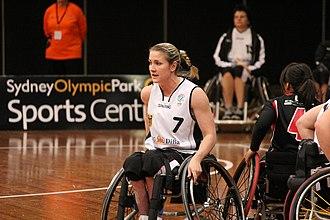 Edina Müller - Image: Germany vs Japan women's wheelchair basketball team at the Sports Centre(IMG 3475)
