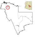 Gila County Incorporated and Unincorporated areas Tonto Apache Tribe highlighted.svg