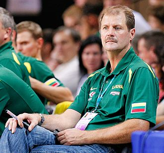 BC Žalgiris - Former player Gintaras Krapikas later became the head coach of Žalgiris
