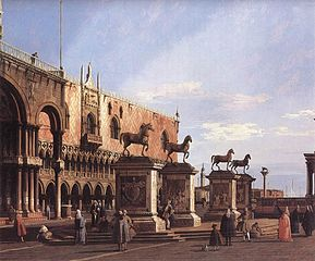 Venice: Capriccio of the Piazzetta with the Horses of San Marco