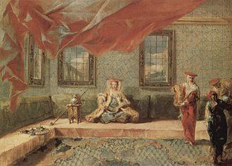 Giovanni Antonio Guardi - In the Harem, painting by  Giovanni Antonio Guardi, c. 1742