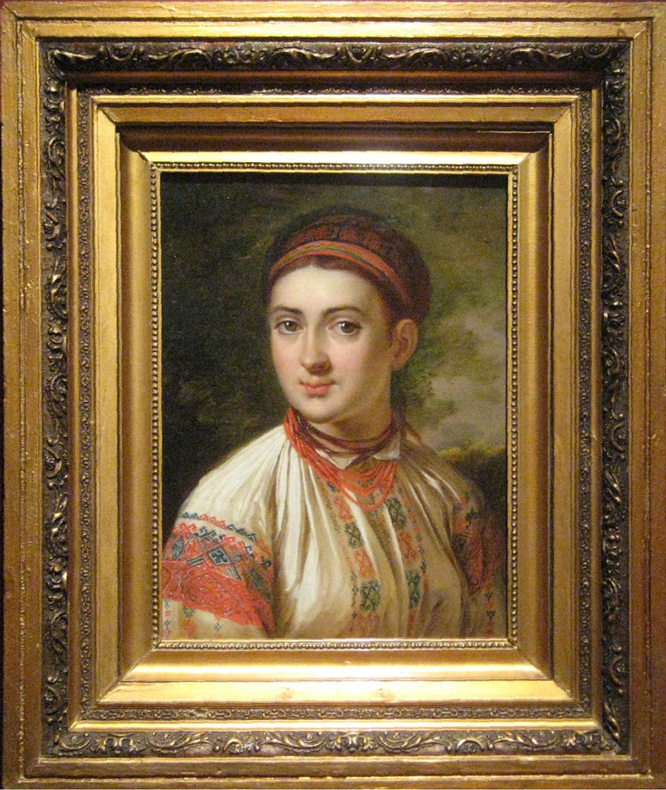Girl from Podolye by V.Tropinin (b. 1821, Kursk) frame