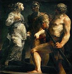 Äneas, die Sibylle und Charon