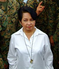 Cropped photo of president Gloria Macapagal Ar...