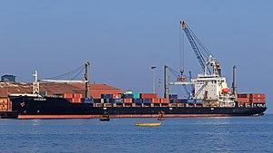 Mormugao - Container ship in Mormugao Harbour