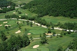 Campo da golf visto dall'alto