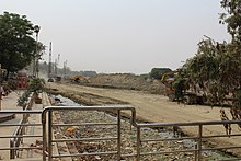 Gomti riverfront construction - riverbed and floodplain