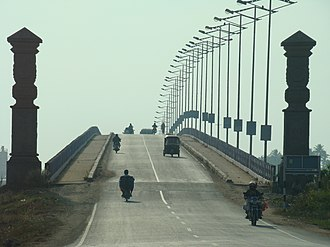 Goshree bridges - The Goshree Bridge No 1 connects Ernakulam to Bolgatty Island