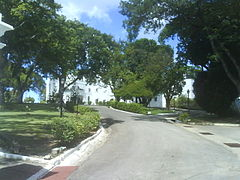 The drive up to Government House Barbados, West Indies (2010)