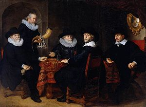 Jacob Willekens - Jacob Willekens, second from the right. Painting done in 1642 by Govert Flink.