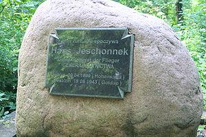 Hans Jeschonnek - Jeschonnek's grave in Gołdap, Warmian-Masurian Voivodeship, Poland.