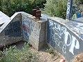 Graffiti on diversion dam on Spanish Fork river, Jul 15.jpg