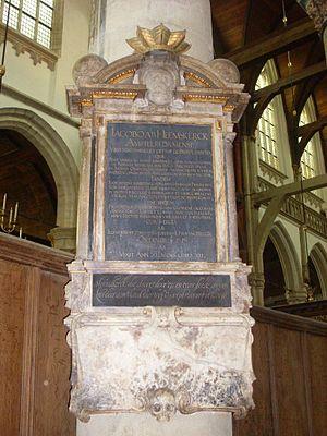 Jacob van Heemskerk - Funerary monument Jacob van Heemskerck