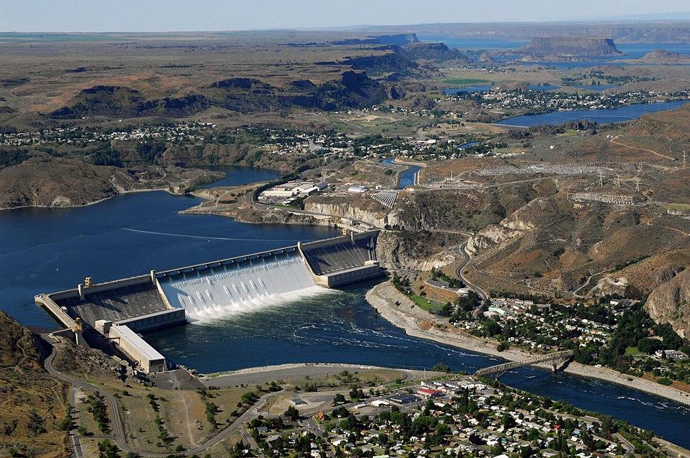 Grand Coulee Dam aerial
