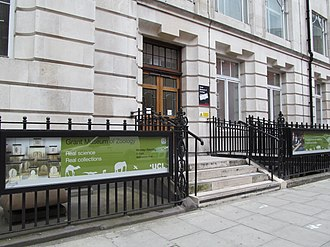 Grant Museum of Zoology and Comparative Anatomy - The exterior of the Grant Museum