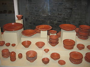 La Graufesenque - Selection of undecorated terra sigillata from La Graufesenque.