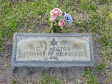 Gravemarker for Cornthwaite John Hector, Founder of Melbourne 001.jpg