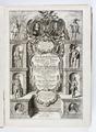 """Graverat titelblad, """"...Newe Landesbeschreibung der zwei Hertzogthümer..."""" - Skoklosters slott - 93253.tif"""