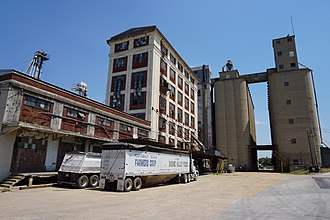 Greenville, Texas - The Northeast Texas Farmers Co-op Sabine Valley Feeds feed mill in Greenville
