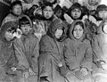 Group portrait of Kingikmiut Eskimo children in Susan R Bernardi's class, Kingegan, Cape Prince of Wales, Alaska, between 1901 (AL+CA 2268).jpg