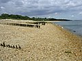 Groynes between Lepe and Calshot, North Solent - geograph.org.uk - 33314.jpg