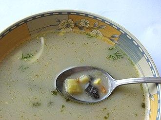 Soup - A Polish forest mushroom soup
