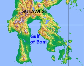 Gulf of Boni gulf surrounded by Indonesia