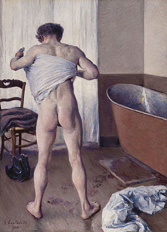 Homme au bain (painting) - Image: Gustave Caillebotte Man at His Bath
