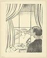 Gustave van de Woestyne - L'artiste à sa fenêtre - lithographie - Royal Library of Belgium - S.IV 96119.jpg