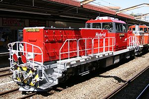 JR Freight Class HD300 - Prototype HD300-901 on delivery from Toshiba in March 2010
