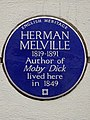 HERMAN MELVILLE 1819-1891 Author of Moby Dick lived here in 1849.jpg