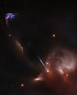 Herbig–Haro object Small patches of nebulosity associated with newly born stars