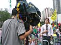 HK Victoria Park Now TV News Reporter 2007.JPG