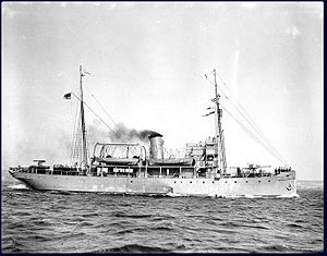 CSS Acadia - In her armed wartime guise as HMCS Acadia