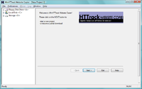 Screen shot of HTTrack software upon opening.