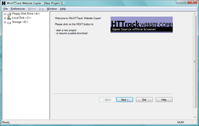 HTTrack sous Windows Vista