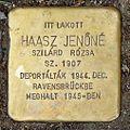 Haasz Jenőné stolperstein (Budapest-07 Rákóczi út 56).jpg