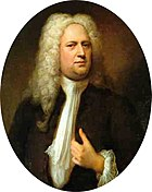 George Frideric Handel. Painting by Balthasar Denner, 1733.