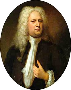 Georg friedrich händel in 1733