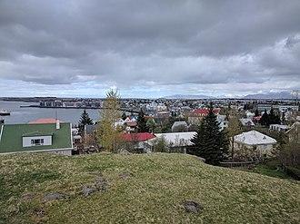 Hafnarfjörður - May 2017 view over Hafnarfjörður's town center