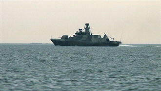 Hamina-class missile boat - Hanko, photographed in the Gulf of Finland in 2009